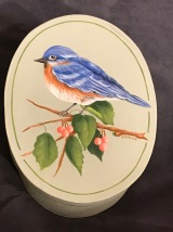 Bluebird and Berries, Design by Dorothy Whisenhunt